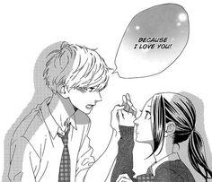 Image via We Heart It #artillustration #blackandwhite #couple #manga #monochrome #shoujo #mangacap #hirunakanoryuusei #suzumeyosano #daikimamura