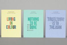 Letterpress printing - promotional pack from Glasgow Press. Designer: Kerr Vernon