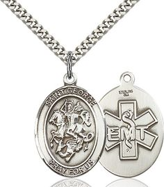 St. George / Emt Pendant (Sterling Silver) by Bliss | Catholic Shopping .com