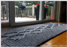 inspiration and realisation: DIY fashion blog: DIY giant knitted rug
