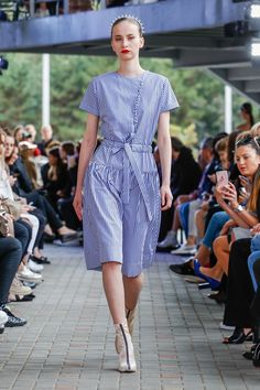 IMRECZEOVA striped shirt dress with button fastening 60 Degrees, Striped Shirt Dress, Runway, Button, Shirts, Dresses, Fashion, Cat Walk, Vestidos
