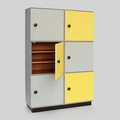 yellow  gray - novoretro Filing Cabinet, Lockers, Locker Storage, Gray, Yellow, Furniture, Home Decor, Decoration Home, Room Decor