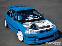 Honda Civic #baby blue #modified #6th Gen  ♠... X Bros Apparel Vintage Motor T-shirts, New and Classic Honda Civics, VTECH cars,  Great price… ♠♠