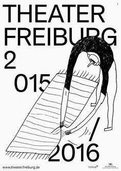 Theater Freiburg, Plakat 2015/16, entstanden bei Velvet Creative Office, Illustration Johanna Benz