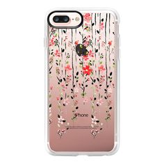 Floral Dilemma iPhone and iPod Case - iPhone 7 Plus Case And Cover (125 BRL) ❤ liked on Polyvore featuring accessories, tech accessories, iphone case, clear floral iphone case, clear iphone case, iphone cases, floral iphone case and apple iphone case