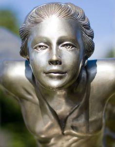 Spirit of Ecstasy Memorial, Kensal Green Cemetery, London - close