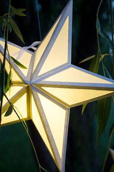 Paper Star Lantern With Window Cutouts