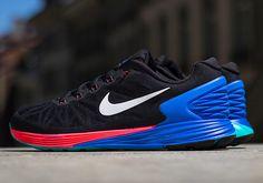 ナイキ ルナグライド 6 - ブラック/ハイパーコバルト/ハイパーパンチ、Nike LunarGlide 6 - lack/Hyper Cobalt/Hyper Punch