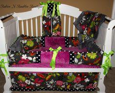 Custom Baby Bedding Crib Set 6 pc set by BabiesNBaubles on Etsy, $450.00