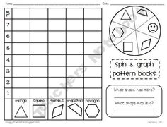 Several graphing, tallying, and sorting activities using pattern blocks.#Repin By:Pinterest++ for iPad#