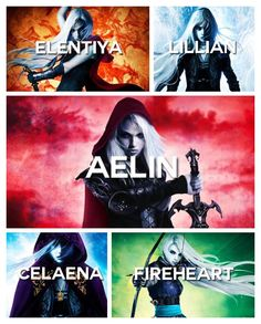 I think my favourite names of her names is Elentiya and Fireheart. Must read this series!