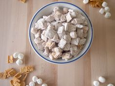 Flufernuter Puppy Chow - Peanut butter and marshmallows combine to make this addictive no bake treat!