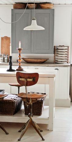 gray, white + naturals / kitchen