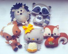 Raccoon PDF pattern-Woodland animals toy-DIY-Nursery