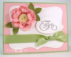 Happy Easter with a Shabby Flower