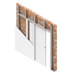 Sliding Door Systems, Sliding Doors, House Extensions, Steel Doors, Patio Doors, Space Saving, Room Inspiration, Living Room, Bed