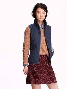 Quilted Zip-Front Vest Product Image