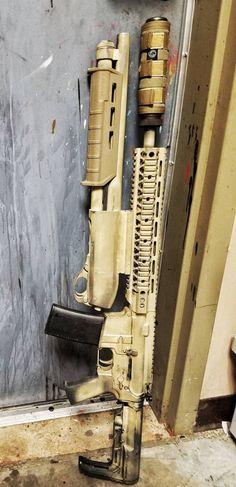 AR-15 5.56/.223 with a 12G Shotgun