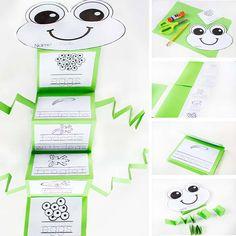Frogs Preschool, Kindergarten Science, Math Literacy, Preschool Homework, Up Book, Book Of Life, Frog Activities, Sequencing Activities, Life Cycle Craft