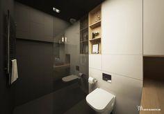 Apartament na osiedlu WIlno. Prysznic typu walk-in ze szklanym parawanem. www.bartekwlodarczyk.com Toilet, Bathroom, Bath Room, Litter Box, Bathrooms, Bath, Toilets, Bathing, Powder Rooms