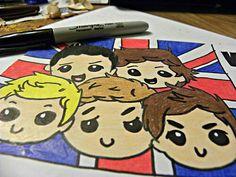 Cartoon One Direction :)