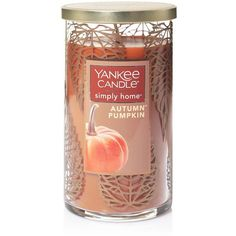 Yankee Candle simply home Autumn Pumpkin 12-oz. Jar Candle ($22) ❤ liked on Polyvore featuring home, home decor, candles & candleholders, candles, orange, autumn candles, autumn scented candles, fall candles, fragrance candles and orange home decor