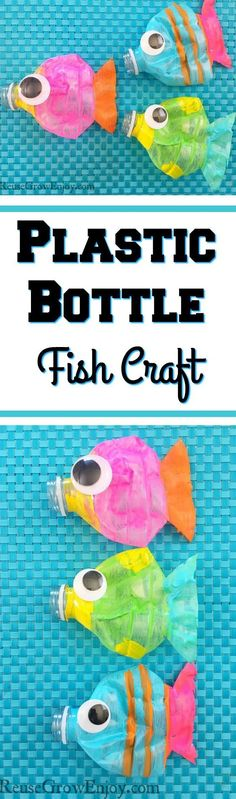 Check out this super cute craft you can do with the kiddos. It is a Plastic Bottle Fish Craft! Great craft to do by reusing plastic bottles.