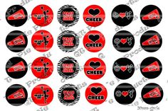 INSTANT DOWNLOAD Red and Black Cheerleader by PIXELPRINTSBYQTPP, $1.40 Black Cheerleaders, Camping Crafts, Peace And Love, Cheerleading, Cards, Map, Competitive Cheerleading