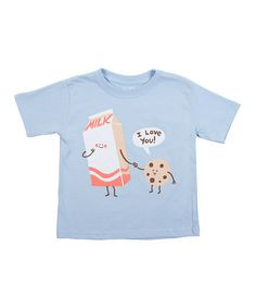 Take a look at this Light Blue Cookie Loves Milk Tee - Toddler & Kids by Threadless on #zulily today!