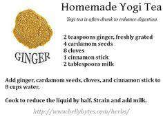 Homemade Yogi Tea Recipe Card