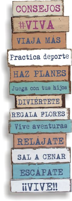 Advice: #Life: Travel More-Practice Sports-Make Plans!-Play with your children-Have fun!- Buy Flowers-Live adventurously!-Relax-Go out to dinner!-Escape!---LIVE!!! :)  http://vivamarketing.es/faq-items/consejos-viva/ Actividad en el blog Espagnol.hispania