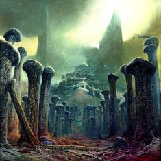 lords of illustration. Best illustration masters of the planet. Arte Horror, Horror Art, Fantasy Landscape, Fantasy Art, Art Visionnaire, Environment Concept Art, No Photoshop, Gothic Art, Dark Souls
