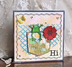 Good idea for jeans pocket stamp MIX77 A Card of Shreds and Patches by Cook22 - Cards and Paper Crafts at Splitcoaststampers