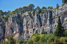 Rock dwellings on Marjan Hill, Split, Croatia