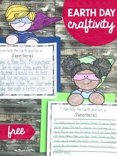 Earth Day Superheroes - Playdough To Plato Earth Day Activities, Spring Activities, Writing Activities, Holiday Activities, Kids Writing, Writing Skills, Teaching Writing, Superhero Writing, Playdough To Plato