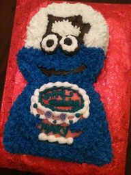 Cookie Monster Chef Cake - Trifles