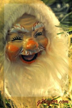 Vintage Handcrafted Santa Most like mass produced but I just ADORE his expression! He always makes me smile.