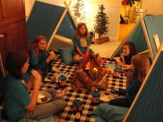 """Photo 28 of 36: camp out / Birthday """"Camp Drew- Drew's 10th Birthday""""   Catch My Party"""