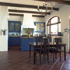 This gallery showcases beautiful designs of Spanish style kitchen ideas. Pictures feature cabinets, flooring and tile from Spanish kitchen designs. Spanish Revival Home, Spanish Style Homes, Spanish House, Spanish Colonial, Spanish Modern, Spanish Kitchen, Spanish Tile, Colonial Kitchen, Floor Design
