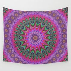 Mandala ornament Wall Tapestry by davidzydd Cosy Bedroom, Bedroom Decor, Wall Decor, Bedroom Romantic, Bedroom Ideas, Mandala Tapestry, Wall Tapestry, Tapestry Design, Wall Art For Sale