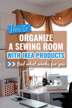 Looking for IKEA sewing room ideas? Check out my guide on DIY sewing room ideas for small spaces, sewing rooms cutting tables, room storage, table ideas, sewing room furniture, shelving ideas for sewing room, craft room ideas. These easy and inexpensive IKEA products will help you to organize everything in your sewing room very well.Easy sewing projects.