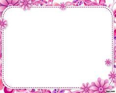 Fondo floral de marco de PowerPoint como borde de presentaciones para utilizar en sus presentaciones o slideshow animados con sus fotografías en Power Point