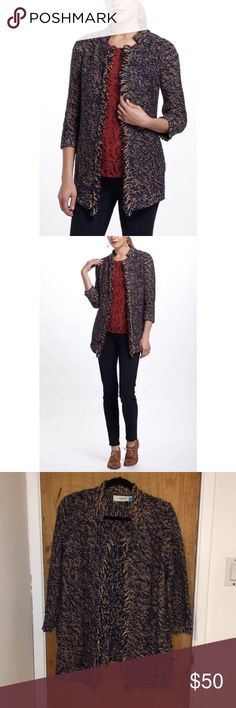 Anthropologie Sparrow Cardigan sparrow fringe cardigan, purchased at anthropologie. great condition, worn a few times. has some loose threads & piling. (S) Anthropologie Sweaters Cardigans