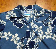 RJC Hawaiian Aloha Shirt 2T Toddler Blue Plumeria Hibiscus Floral Pattern Cotton #RJC #EverydayHoliday