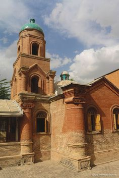The smallest church of Iran  During the Russians occupation of Qazvin in the Second World War the Russians built this church to feel more at home. Now this tiny Orthodox church with its turquoise brick belfry dome is the smallest church of the Iran and open to visitors.