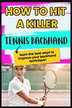 The best tennis backhand drills to improve your one or two handed backhand, Learn what grip to use and simple tennis tips to improve your backhand technique. Tennis Equipment, Tennis Gear, Tennis Tips, Sport Tennis, Real Tennis, How To Play Tennis, Tennis Funny, Tennis Techniques, Tennis Lessons