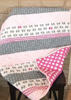 Easy strip baby quilt