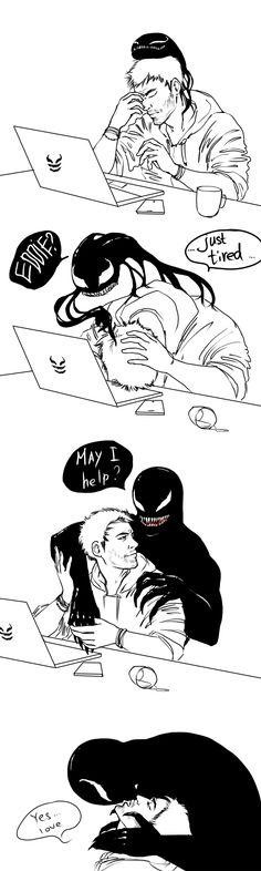 Gift x Eddie - Symbrock - Marvel Marvel E Dc, Marvel Venom, Disney Marvel, Marvel Funny, Marvel Memes, Funny Comics, Marvel Avengers, Marvel Universe, Marvel Comics
