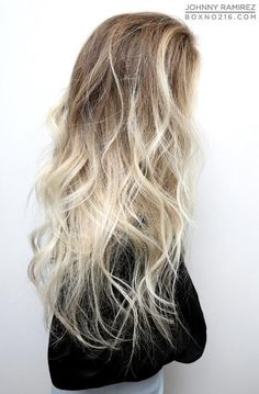 pale blonde ombre: