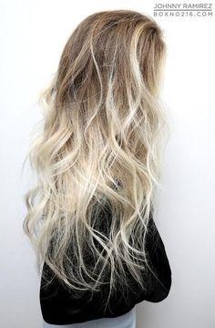 pale blonde ombre: